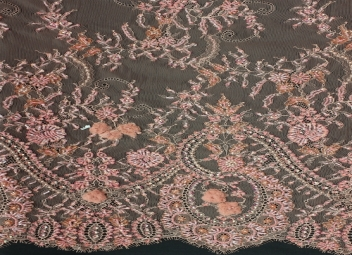 Chantilly Lace Beaded ( CHB03) Soft Pink